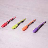 Щипцы нейлоновые 30.5см с ручками из нержавеющей стали, фото 1