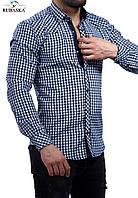 Рубашка мужская серого цвета в клетку, фото 1