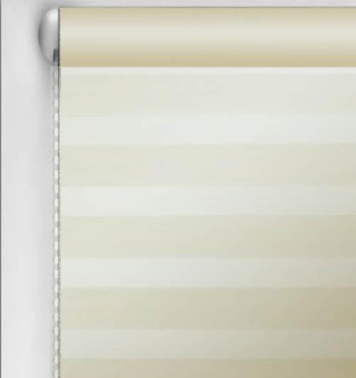 Тканевые ролеты День-ночь. Бежевый шампань 42.5 см х 170 см. Украина.