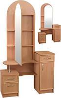 Трюмо Камелия 2 с зеркальной дверью (туалетный столик с зеркалом)