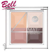 Bell - Тени для век 4-цветные матовые Mat EyeShadows Тон 01 беж, натурал, шоколад матовые