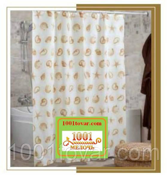 """Шторка для ванной комнаты """"Star Fish"""", размер 240х200 см."""