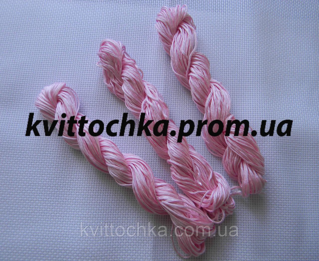Шнур капроновый для плетения шамбалы - розовый