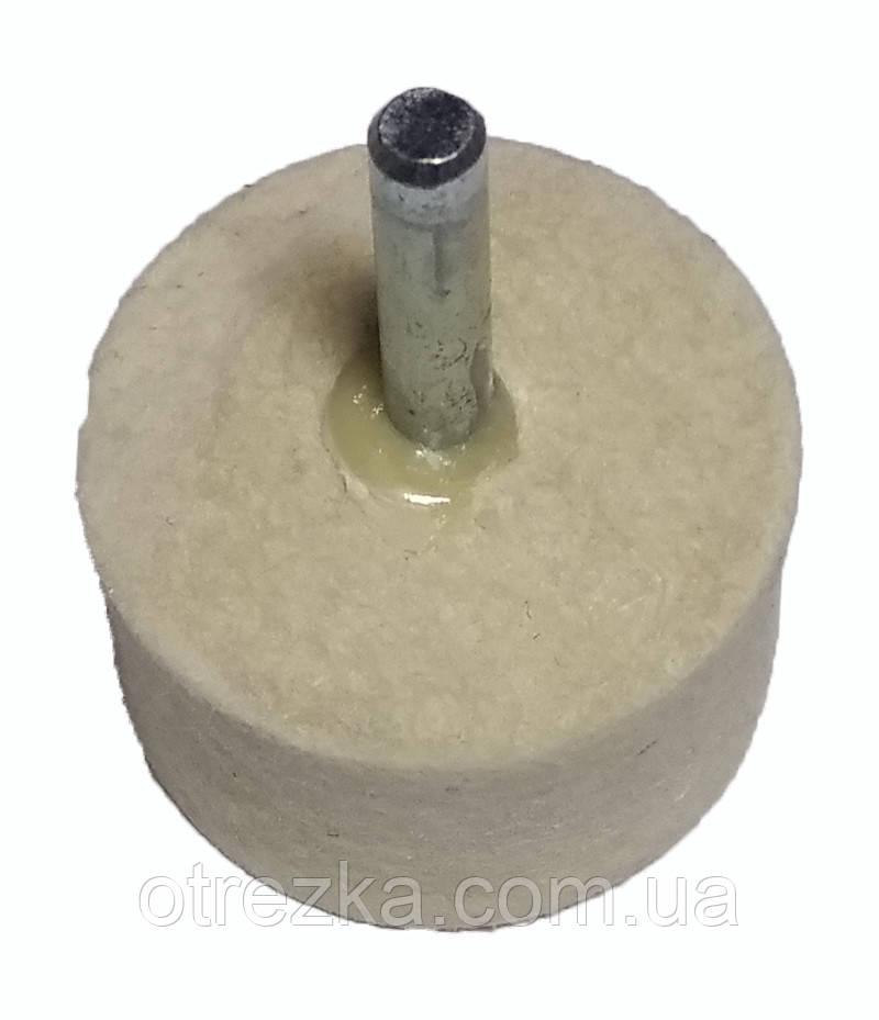 Фетровый круг для дрели 40 мм.