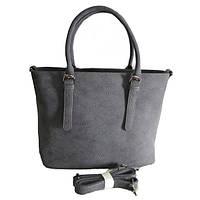 Брендовая женская сумка Tory Burch Торри Берч серая