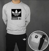 Спортивные костюм Adidas 03(черно-серый), Реплика