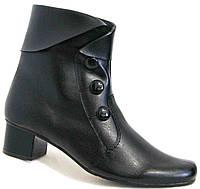 Кожаные ботинки женские весна на каблуке, обувь кожа большие размеры от производителя модель МИ06019