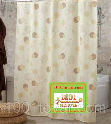 """Шторка для ванної кімнати """"Circle"""", розмір 240х200 див."""