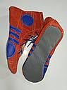 Борцовки Лерман красные с синими вставками с антискольжением р.38, фото 2