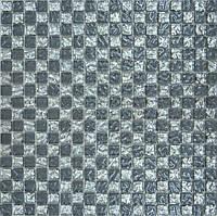 Мозайка шахматка рельефная платина-рельефный серый