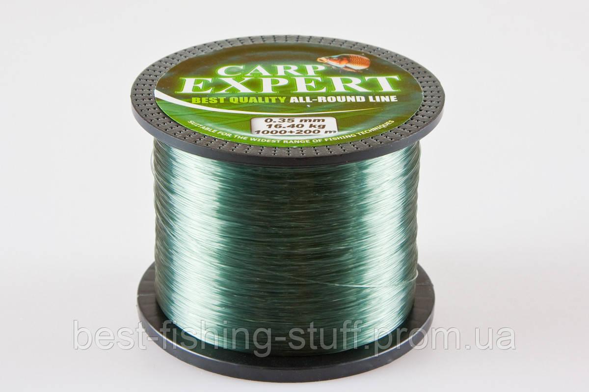 Леска Carp Expert Energofish 1200м 0.35мм green зелёная