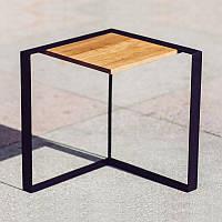 Столик консольный дуб-сталь