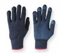 Перчатка рабочая синяя синтетика с покрытием пвх