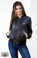 Женское черная короткая куртка на синтепоне. Материал плащевка. Размер  S, M, L