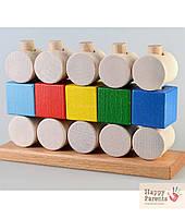 Детская пирамидка «Кубики и цилиндры»