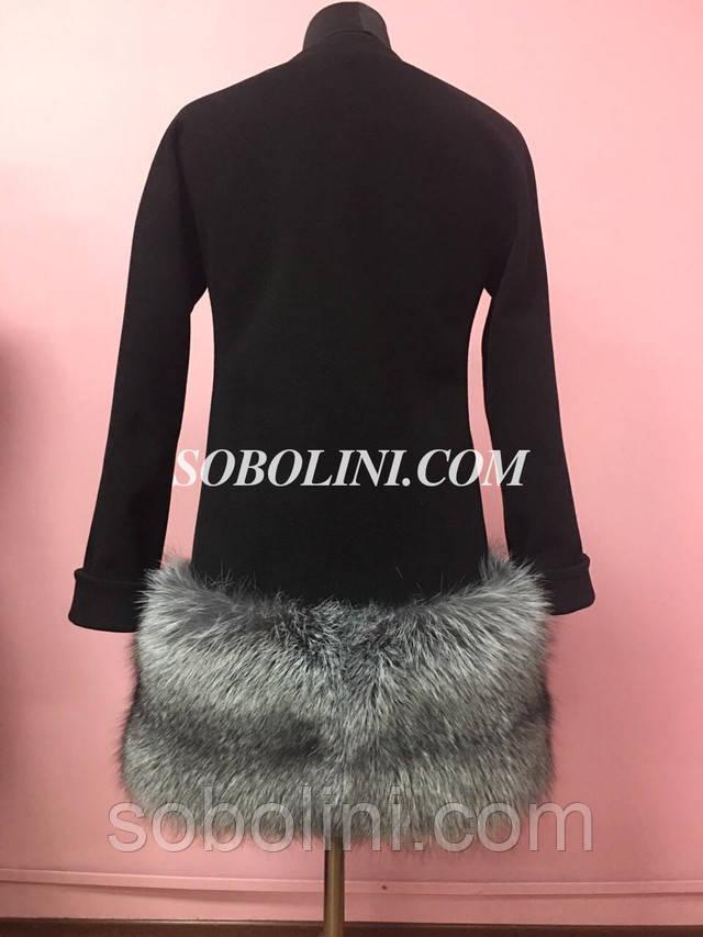 Пальто кашемировые с мехом