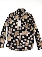 1018-2 Рубашка черный