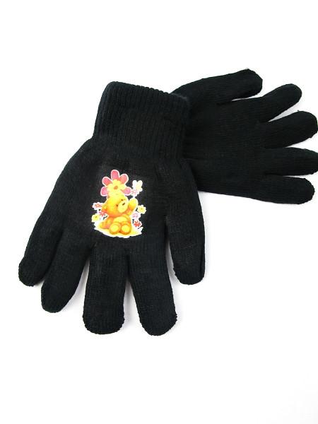 10227 Перчатки детские для девочки черный 6-9 лет - Imprezz - огромный выбор недорогой одежды!  в Львове