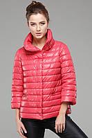 """Женская куртка """"Фарида""""  кораллового цвета"""