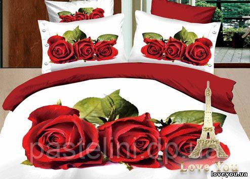 Love you  семейный комплект постельного белья Любовь