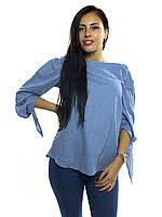 10835 Блуза голубой