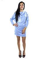10842 Туника-платье голубой