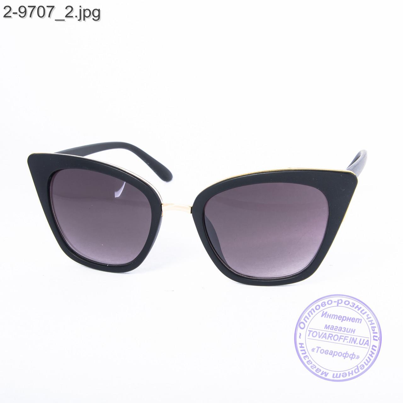 Женские солнцезащитные очки - черные - 2-9707