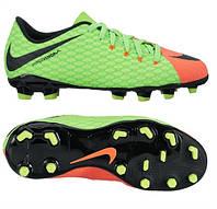 Детские футбольные бутсы Nike Hypervenom Phelon III FG 852595-308 JR, фото 1