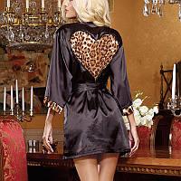 Изящный халатик с вставкой в виде сердца / / Эротическое белье / Сексуальное белье / Еротична білизна, фото 1
