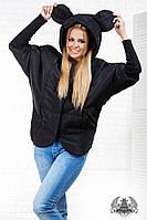 Женская теплая черная курточка. Материал плащевка. Размер S, M, L