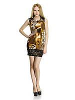 1318 Платье коричневый