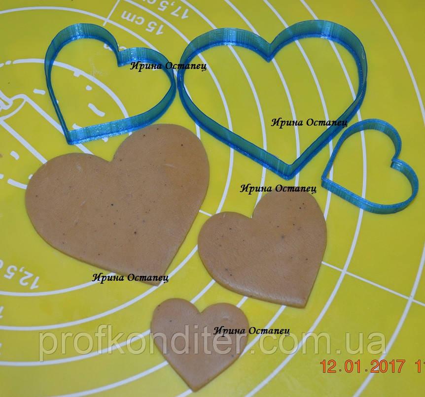 Набор вырубок 3 сердца №2