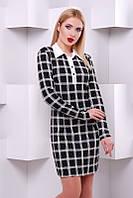 Стильное женское платье Клетка FashionUp 42-48  размеры