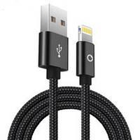 Кабель USB для IPHONE 5/6 тканевый плетеный, фото 1