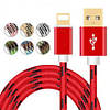 Кабель USB для IPHONE 5/6 тканевый плетеный, фото 2