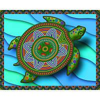 Схема на ткани для вышивания бисером Императорская черепаха
