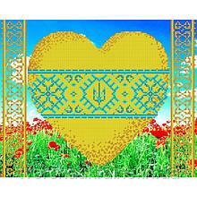 Схема на ткани для вышивания бисером З Україною в серці