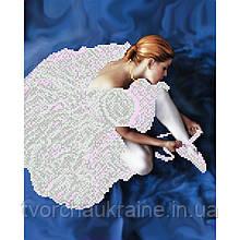 Схема на ткани для вышивания бисером Балерина
