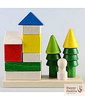 Детская пирамидка «Домик в лесу»