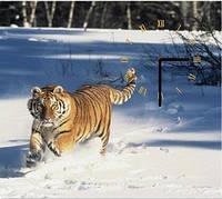 """Картина-часы (40х45 см) """"Тигр"""""""