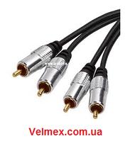Готовый кабель 2 х тюльпан ↔ 2 х тюльпан BIG XC005 10М