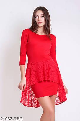 S   44) Вишукане червоне коктейльне плаття Vernis Розпродаж - купити ... 5c7e5cdbabd14