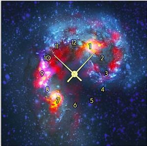"""Картина-часы (60х60 см) """"Галактика"""""""