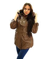 2307 Пальто коричневый