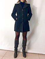 2746 Пальто т.серый