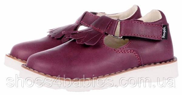 Детские кожаные туфли Mrugala р.31-38 бордо 2370-50