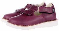 Детские кожаные туфли Mrugala р.31-38 бордо 2370-50, фото 1