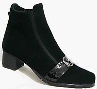 Замша ботинки женские на каблуке великаны деми, ботинки женские большие размеры от производителя мод. МИ5251-2