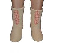 Флисовые тапочки-сапожки с вышивкой мужской (детские, размер 18-32)