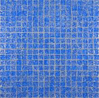 Мозайка моно голубой колотый